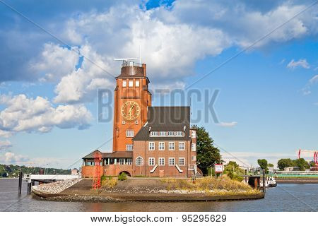 Lotsenhaus Seemannshoft (pilot House) In The Port Of Hamburg, Germany
