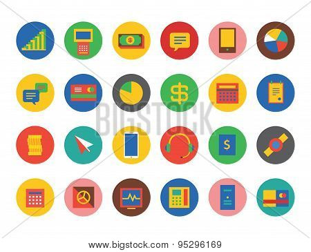 E-commerce Icons Vector Set. Shop, money or commerce and mobile symbols. Stocks design element.