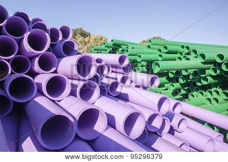 Pipes Plastic Colors