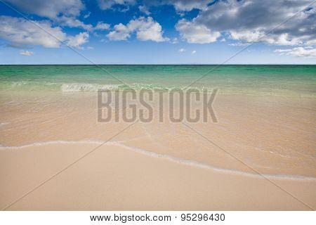Clear Beach and Sky