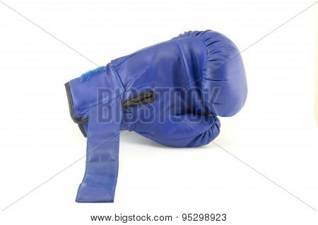 Blue Boxing Gloves Isolated
