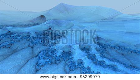 Virtual frozen landscape scenery