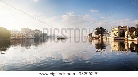 Lake Pichola Panorama In India
