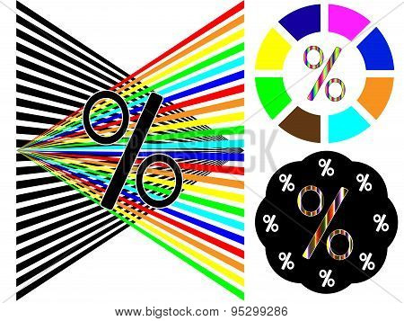 Color or black and white percentage