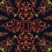 stock photo of arabic calligraphy  - seamless pattern ornament Arabic calligraphy of text Eid Mubarak concept for muslim community festival Eid Al Fitr - JPG