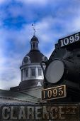 pic of martello  - View of Kingston Ontario city hall and train
