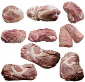 stock photo of crude  - Meat Pork Ingridiyent Is nutritious Stake Food Kitchen Crude Red meat Fillet cutting - JPG