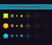 picture of gem  - Gemstone Explosion Effect - JPG