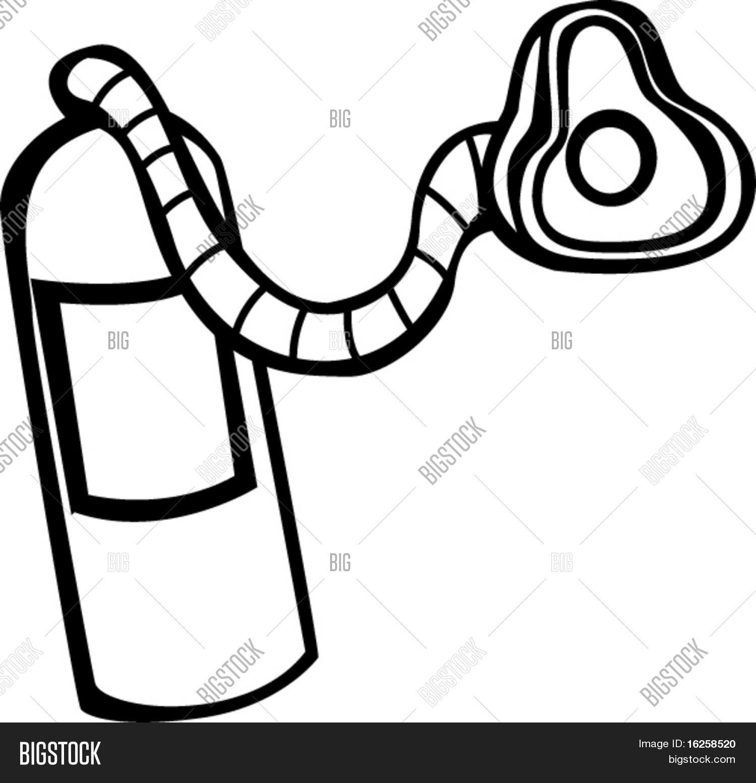 oxygen air tank with breath mask stock vector u0026 stock photos