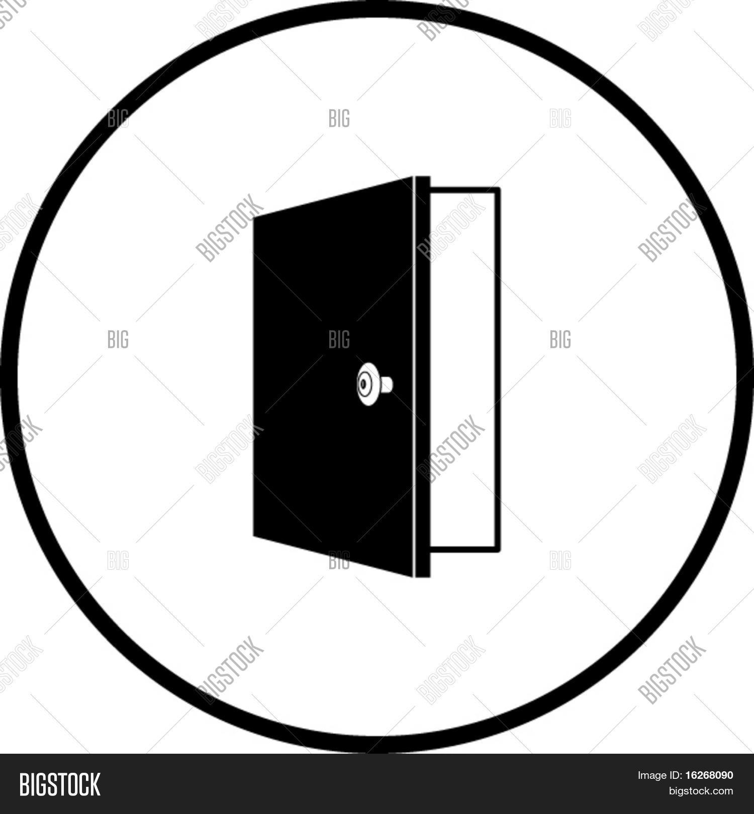 open door symbol stock vector stock photos bigstock