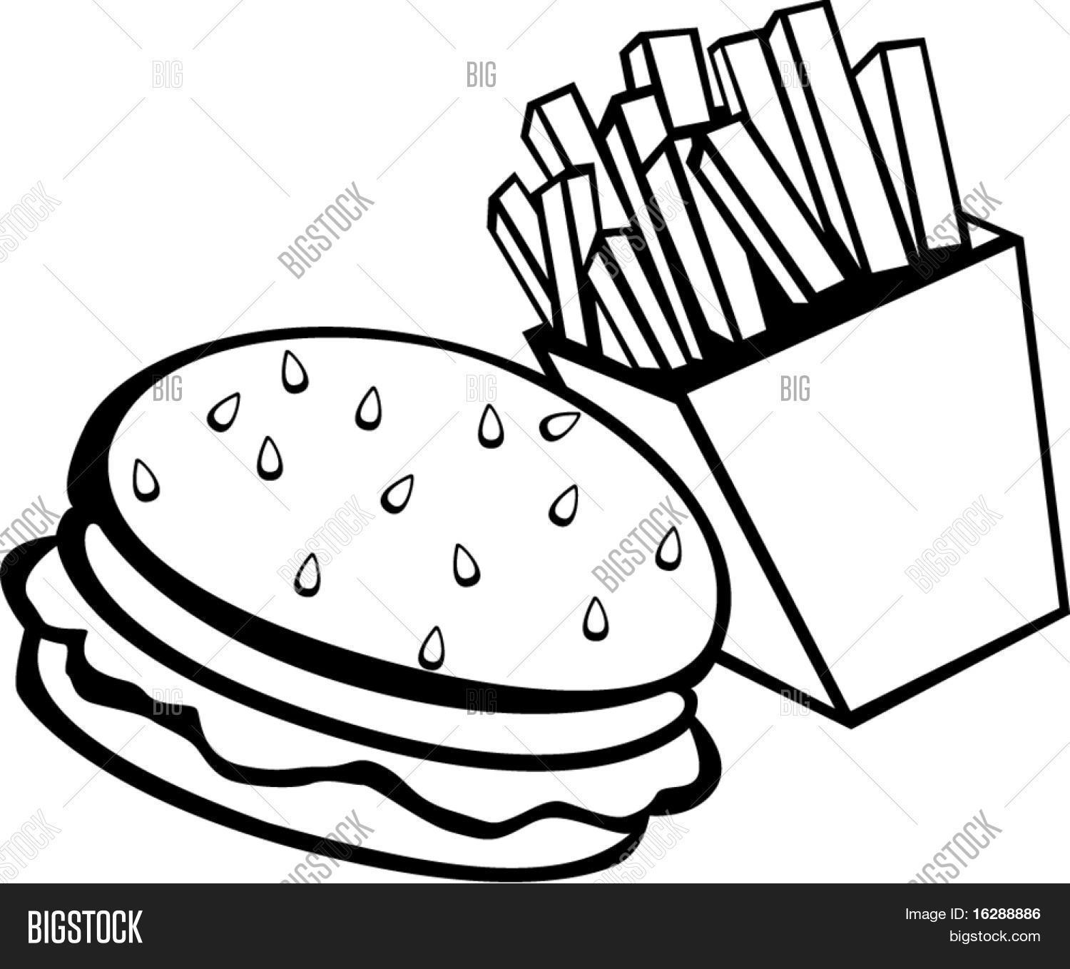 Fast Food Drink Coloring Page