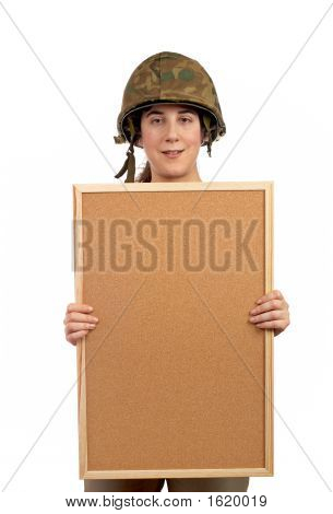 Holding The Corkboard
