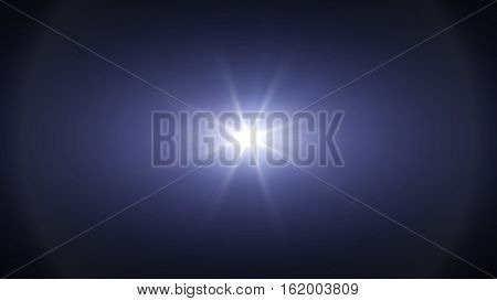 Blue light special effect concert lighting against a dark background ilustration.