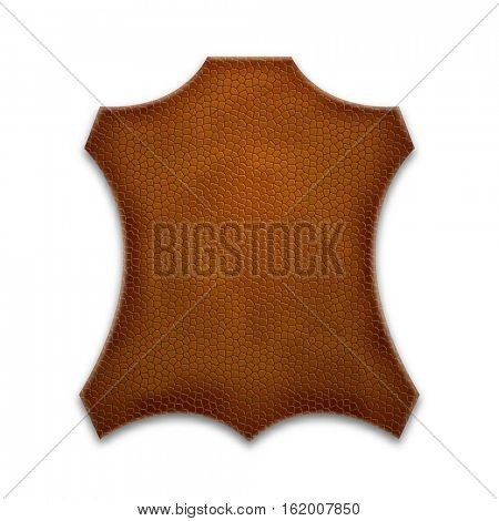 Leather sign. Element for your design.