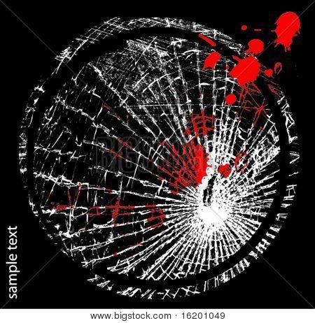 Vector illustration of broken glass