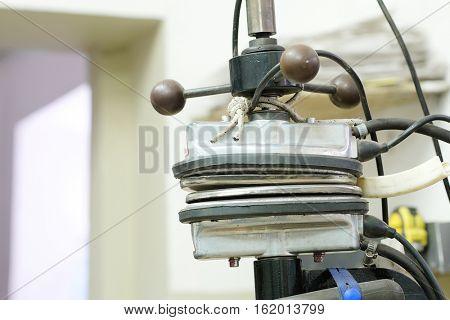 Close up part of a vulcanization machine