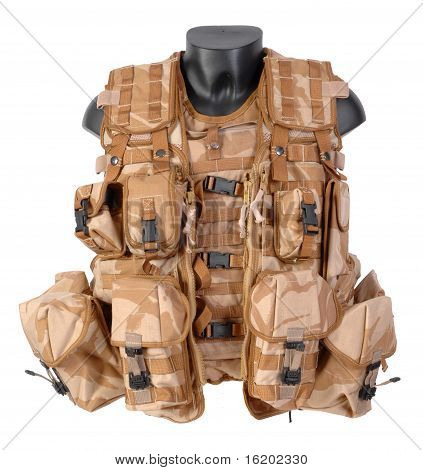 Vest, Tactical, Load Carrying. Modern British LBE used in Afghanistan.