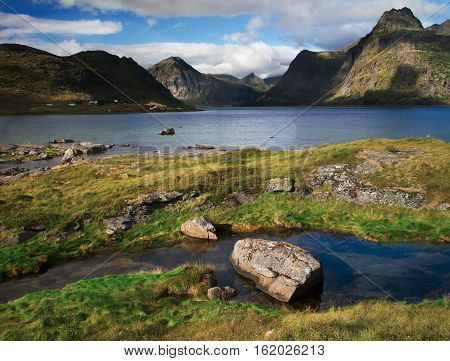 The lofoten is an Archipelago in the northern part of Norway.