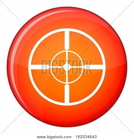 Aim icon in red circle isolated on white background vector illustration
