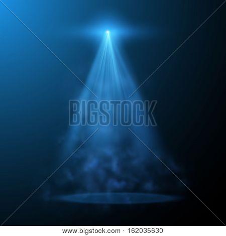 Vector spotlight effect on checkered background. Vector eps10