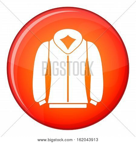 Sweatshirt icon in red circle isolated on white background vector illustration