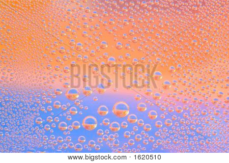 Bubbles In Orange And Blue