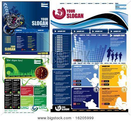 Modern web page layout design