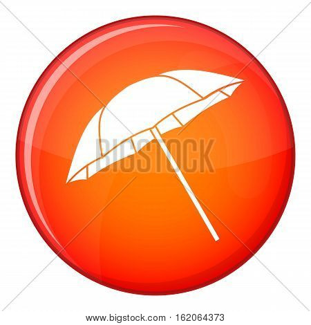 Umbrella icon in red circle isolated on white background vector illustration