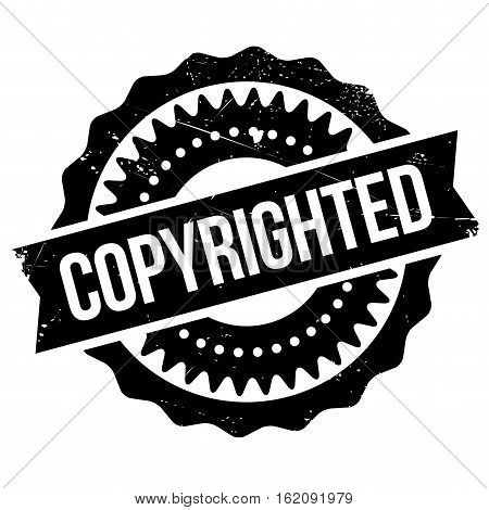 Copyrighted stamp. Grunge design with dust scratches. Effects can be easily removed for a clean, crisp look. Color is easily changed. rubber grunge