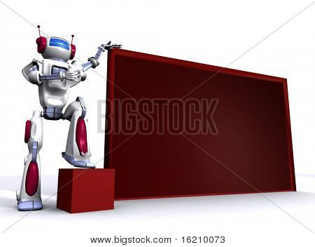 Robot with empty billboard