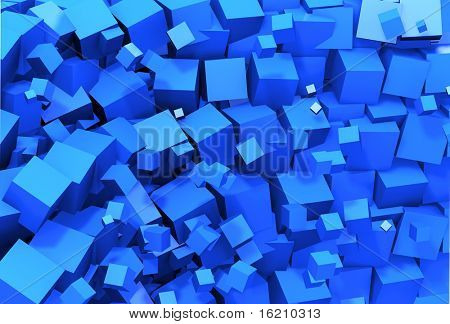 Abstract 3d cubes design