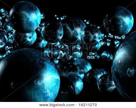 3D futuristic bubble background