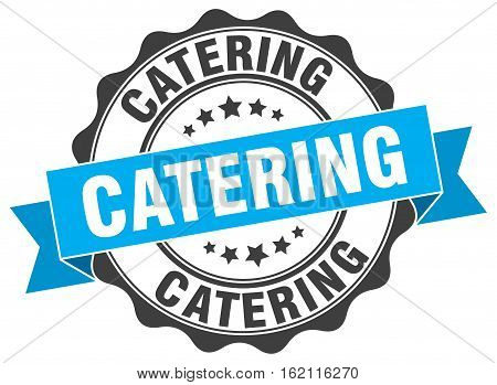 catering. stamp. sign. seal. round. retro. ribbon