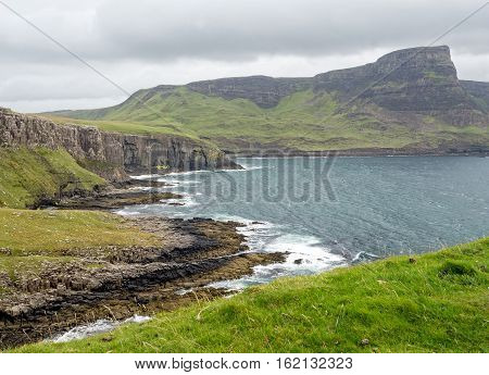 View at Neist Point on the Isle of Skye, Scotland overlooking The Little Minch