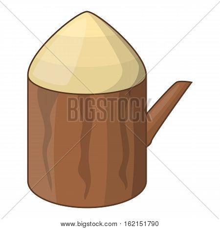 Tree stump icon. Cartoon illustration of tree stump vector icon for web