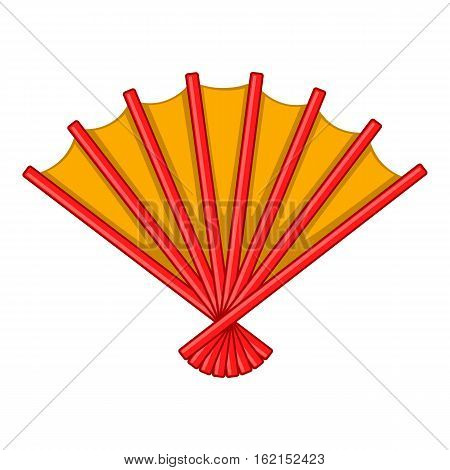 Japanese folding fan icon. Cartoon illustration of japanese folding fan vector icon for web