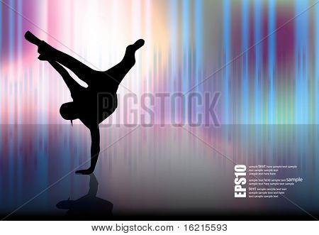 Breakdancer dancing