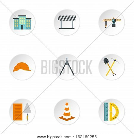 Repair tools icons set. Flat illustration of 9 repair tools vector icons for web