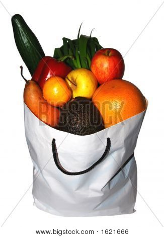 Bag Of Health: Fruit & Veggies - Isolated