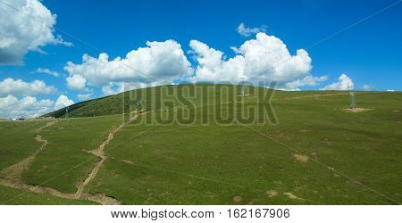 Mountain Scenery In Sichuan, China