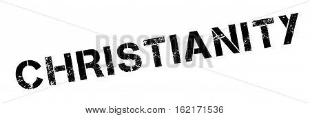 Christianity rubber stamp. Grunge design with dust scratches. Effects can be easily removed for a clean, crisp look. Color is easily changed.