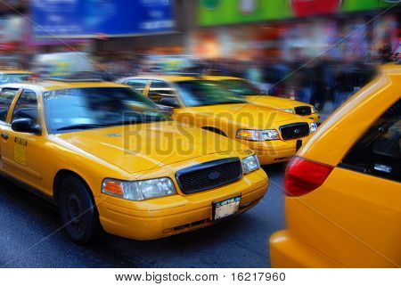 NYC Cabs at Rush Hour
