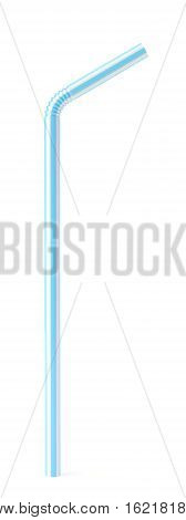 Straw isolated on white background 3d render