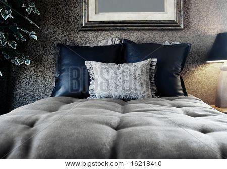 Noir Style Bedroom Interior