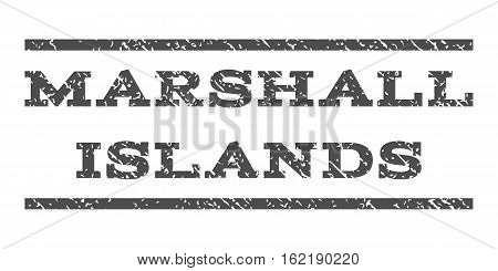 Marshall Islands watermark stamp. Text caption between horizontal parallel lines with grunge design style. Rubber seal stamp with scratched texture.