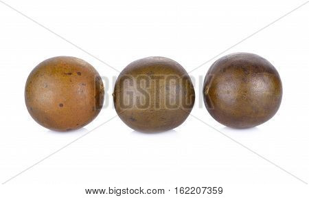 Chinese herbal luo han guo on white background