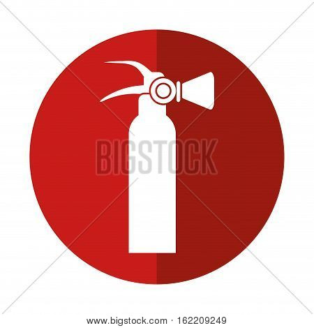 fire extinguisher equipment fire help red circle vector illustration eps 10