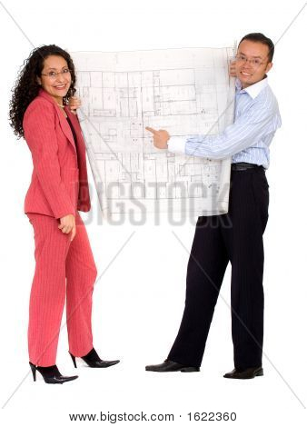 Couple Planning Their House