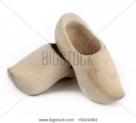 Wooden classic dutch clog shoes