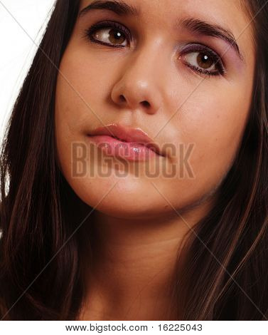 Young woman looking sad